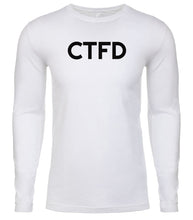Load image into Gallery viewer, white ctfd mens long sleeve shirt