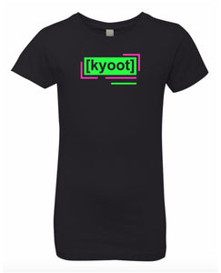 florescent green cute neon streetwear t shirt for girls