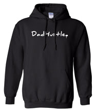 Load image into Gallery viewer, black dad hustle pullover hoodie