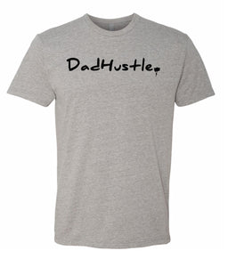 grey dad hustle crewneck t shirt