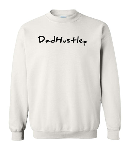 white dad hustle sweatshirt