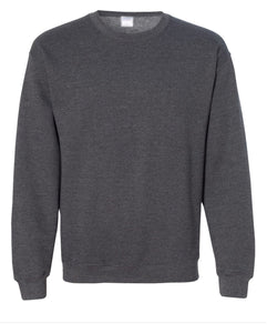 dark grey crewneck sweatshirt