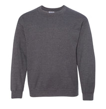 Load image into Gallery viewer, dark heather youth crewneck sweatshirt