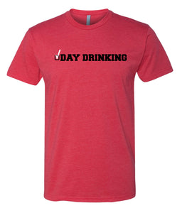 red day drinking crewneck t shirt