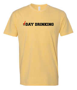 yellow day drinking crewneck t shirt