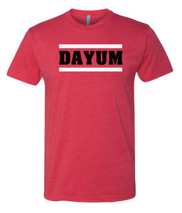 red dayum crewneck t shirt