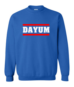 blue dayum sweatshirt