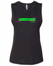 Load image into Gallery viewer, florescent green disrespectful neon streetwear tank top for women