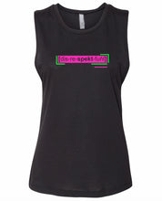 Load image into Gallery viewer, florescent pink disrespectful neon streetwear tank top for women