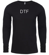 Load image into Gallery viewer, black dtf mens long sleeve shirt