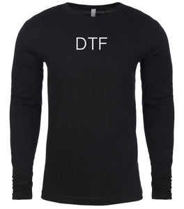 black dtf mens long sleeve shirt
