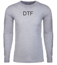 Load image into Gallery viewer, grey dtf mens long sleeve shirt