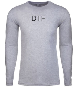 grey dtf mens long sleeve shirt