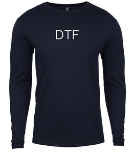 navy dtf mens long sleeve shirt