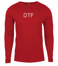 Load image into Gallery viewer, red dtf mens long sleeve shirt
