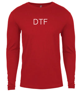 red dtf mens long sleeve shirt