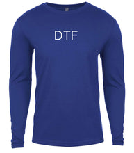 Load image into Gallery viewer, blue dtf mens long sleeve shirt