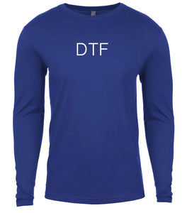 blue dtf mens long sleeve shirt