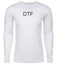 Load image into Gallery viewer, white dtf mens long sleeve shirt