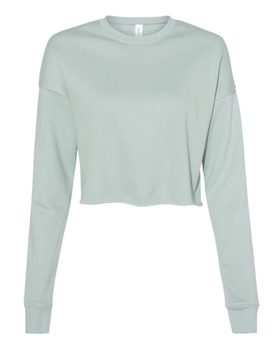 dusty blue cropped top sweatshirt for women