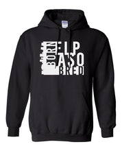 Load image into Gallery viewer, black El Paso born and bred hoodie