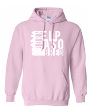 Load image into Gallery viewer, pink El Paso born and bred hoodie