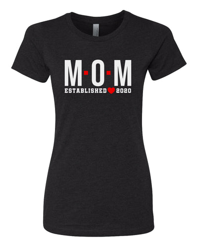 mom established 2020 women's t-shirt