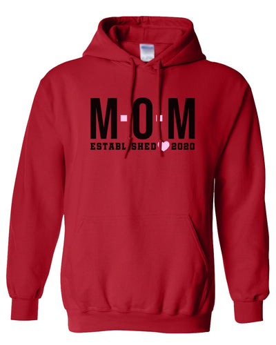 mom established 2020 women's hoodie