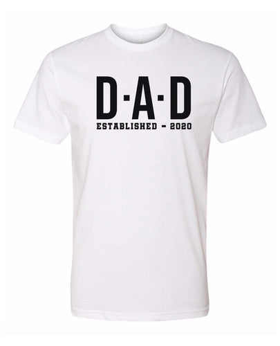 dad established 2020 t-shirt