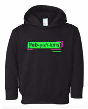 Load image into Gallery viewer, florescent green fabulous toddler neon hoodie