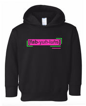 Load image into Gallery viewer, florescent pink fabulous toddler neon hoodie