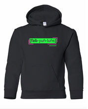 Load image into Gallery viewer, florescent green fabulous youth kids neon streetwear hooded sweatshirt