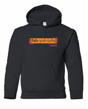 Load image into Gallery viewer, florescent orange fabulous youth kids neon streetwear hooded sweatshirt