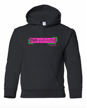 Load image into Gallery viewer, florescent pink fabulous youth kids neon streetwear hooded sweatshirt