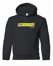 Load image into Gallery viewer, florescent yellow fabulous youth kids neon streetwear hooded sweatshirt