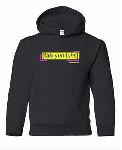 florescent yellow fabulous youth kids neon streetwear hooded sweatshirt