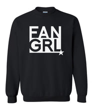Load image into Gallery viewer, black fan girl sweatshirt