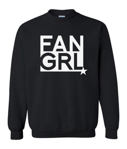black fan girl sweatshirt