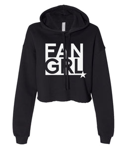 black fan girl cropped hoodie