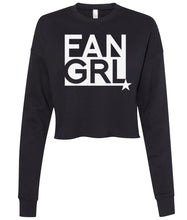 Load image into Gallery viewer, black fan girl cropped sweatshirt