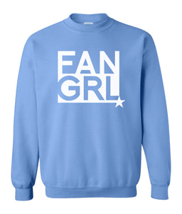 blue fan girl sweatshirt