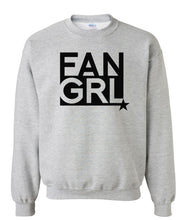 Load image into Gallery viewer, grey fan girl sweatshirt