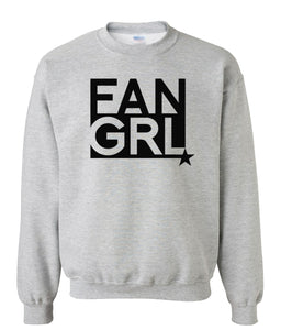 grey fan girl sweatshirt