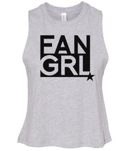 Load image into Gallery viewer, grey fan girl cropped tank top