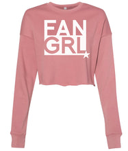Load image into Gallery viewer, mauve fan girl cropped sweatshirt