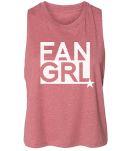 mauve fan girl cropped tank top