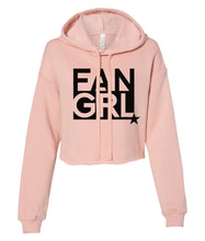Load image into Gallery viewer, peach fan girl cropped hoodie