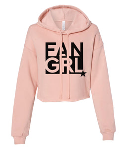 peach fan girl cropped hoodie
