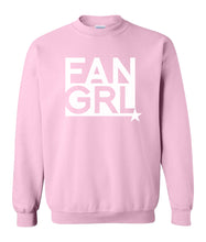 Load image into Gallery viewer, pink fan girl sweatshirt