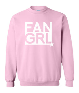 pink fan girl sweatshirt